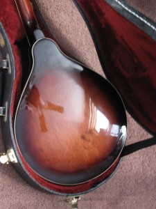 Happy face on Mandolin